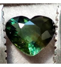 1.26Ct Натуральний зелений сапфір серце 7.4мм ААА++ (Відео)