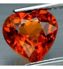 2.64Ct Натуральный спессартин гранат 8мм сердце