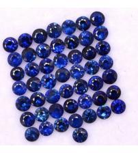 0.09Ct Натуральний синій кашмірський сапфір 2.5мм (ціна за 1шт)