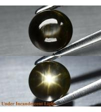 1.23Ct Натуральний сапфір з ефектом астерізму 5.7мм кабошон