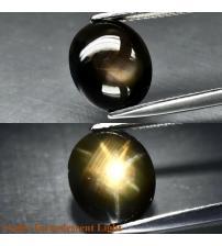 5.04Ct Натуральний сапфір з ефектом астерізму 11.2*9.5мм кабошон
