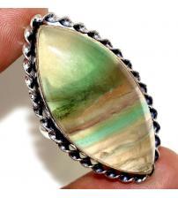 Серебряное кольцо с натуральным флюоритом 18р