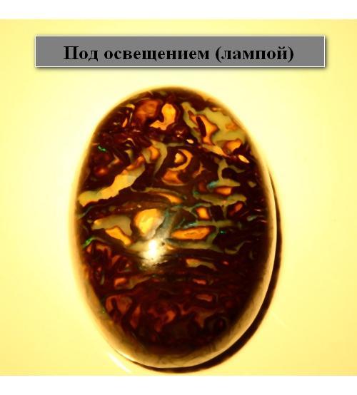 12.91СT ПРИРОДНЫЙ БОЛДЕР ОПАЛ 17x12.3мм