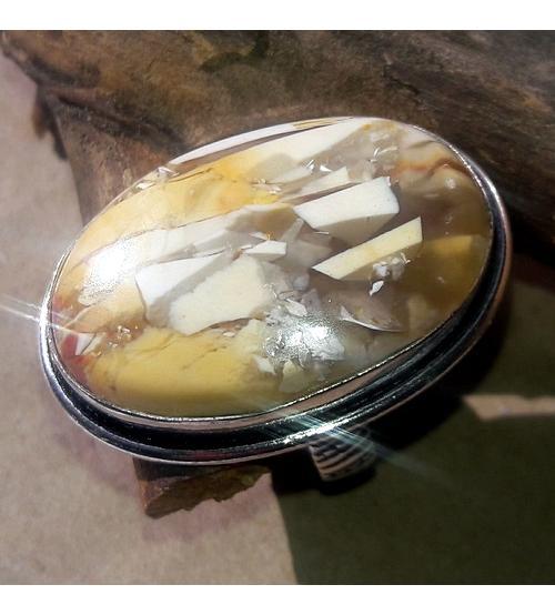 серебряное кольцо с мукаитом