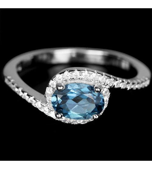 кольцо лондон топаз