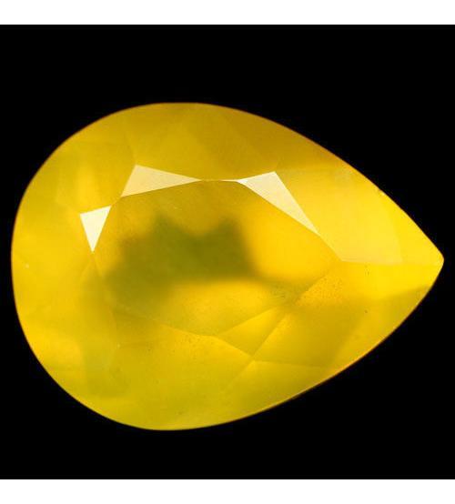 4.7Ct Натуральный желтый Мексиканский опал 13.8*10.4мм (груша)