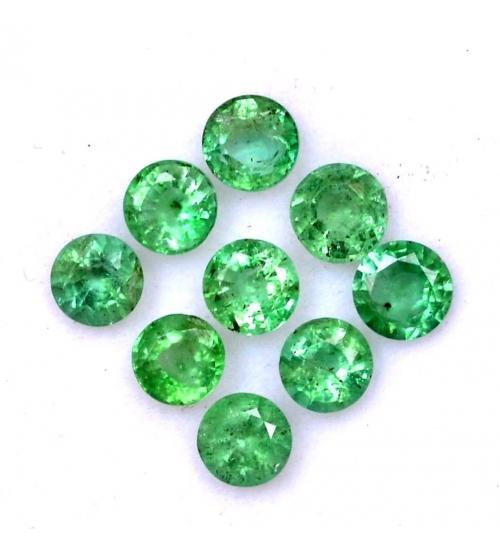 0.23Ct Натуральный камень изумруд 4мм круг (цена за 1шт)