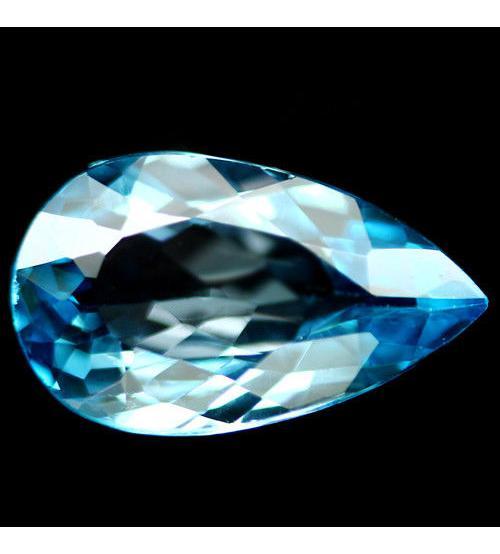 6.19Ct Натуральный Sky Blue топаз 15*10мм груша