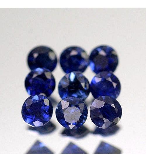 0.008Ct Натуральный синий сапфир 1.2мм (цена за 1шт)