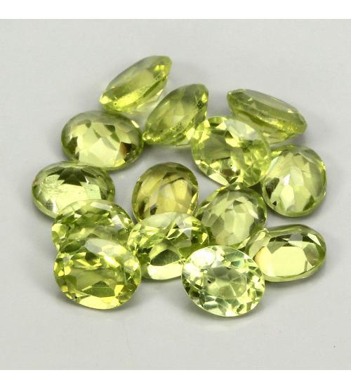 0.4Ct Натуральный хризолит (перидот) 4*3мм овал - цена за 1шт