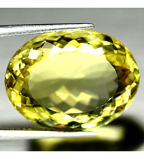 7.34Ct Натуральный лимонный кварц 11*14мм овал конкав