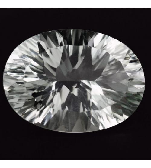 9.63Ct Натуральный белый кварц 13*18мм овал конкав