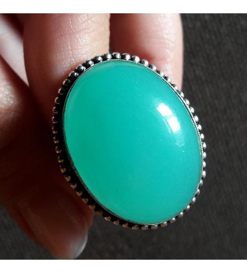 Серебряное перстень с халцедоном 20р