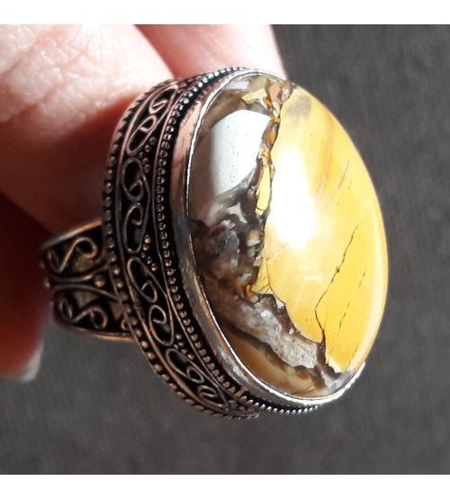 Винтажное Серебряное кольцо с Брекчиевидной Яшмой 18.5р