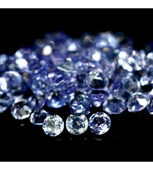 0.07Ct Натуральный камень танзанит 2.5мм (цена за 1шт)