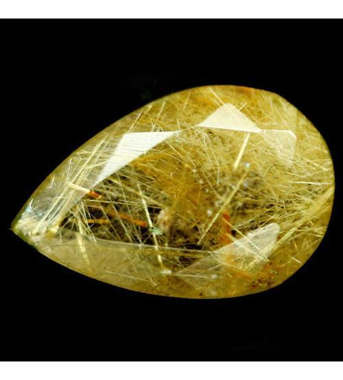 3.28Ct Натуральный Рутиловый кварц (Волосатик) 14*9мм груша