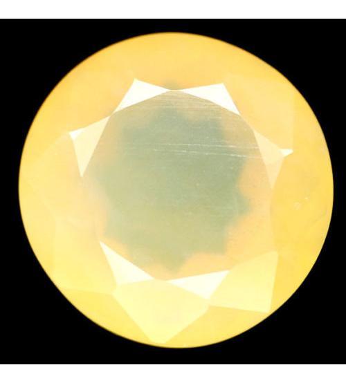 11.22Ct Желтый Мексиканский опал 15.2мм (круг)