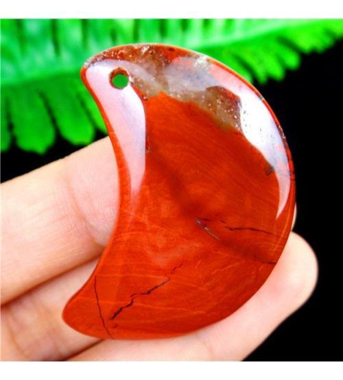 67.5Ct Натуральная красная Яшма камень кулон кабошон 40*22мм