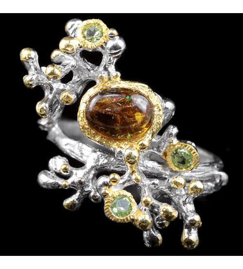 кольцо с турмалином купить Украина