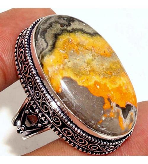 купить кольцо с яшмой шмель