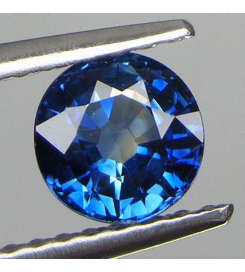 1.53Ct Натуральный синий сапфир 6.6мм класса А+++ (круглая огранка)