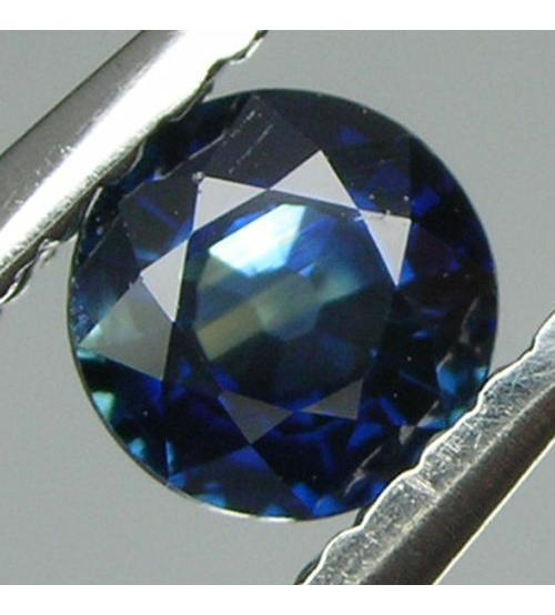 3.76Ct Натуральный синий сапфир 8мм класса А+++ (круглая огранка) Сертификат