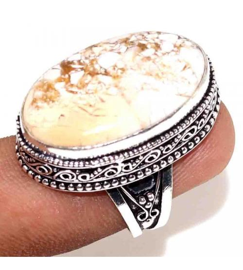 Винтажное Серебряное кольцо с Брекчиевидной Яшмой 19р