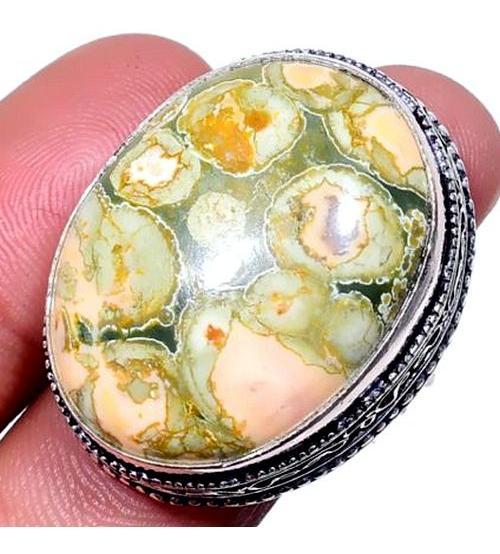 Серебряный перстень (кольцо) с риолитом 17.5р