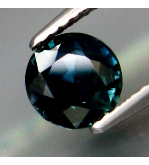 0.78Ct Натуральный темный сине-зеленый сапфир 5мм (круглая огранка)