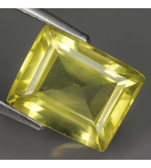 4.06Ct Натуральный лимонный кварц 11*8.6мм октагон ВИДЕО
