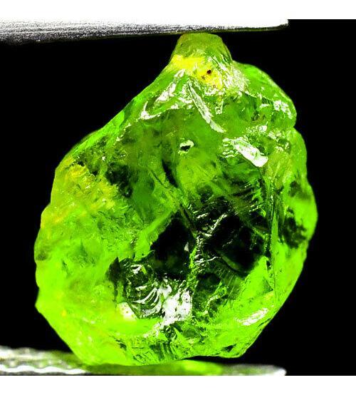 3.95Ct Необработанный хризолит (перидот) 10*7мм