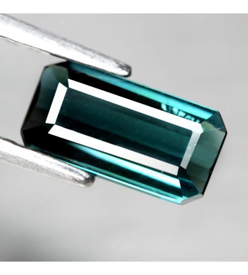0.95CT Натуральный турмалин зелено-синий (индиголит) 8.6*4.5мм (октагон)