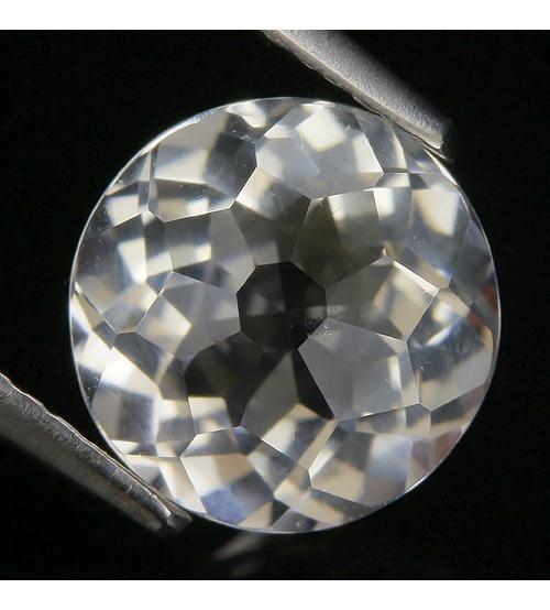 2.35Ct Натуральный белый кварц 9мм круг (Видео)