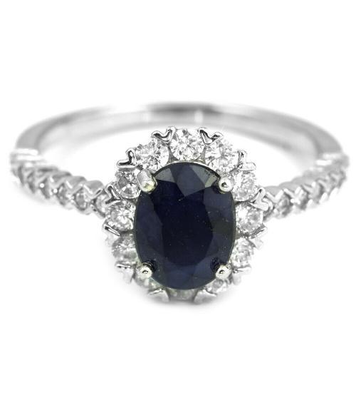 серебряное кольцо с сапфиром цена купить
