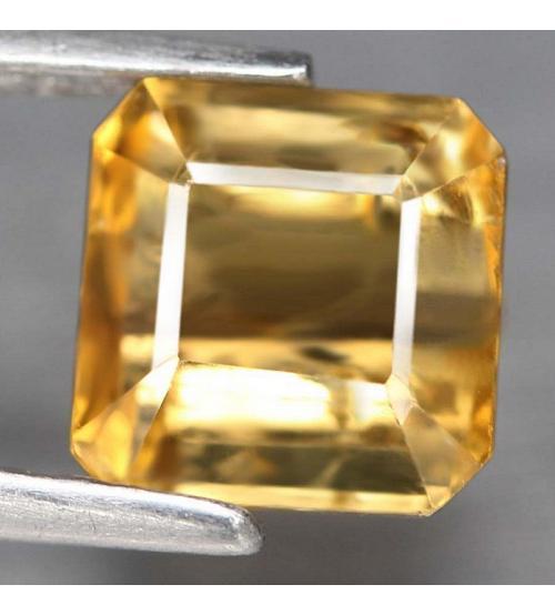 2.02CT желтый турмалин тсилаизит 6.8*6.7мм (октагон)