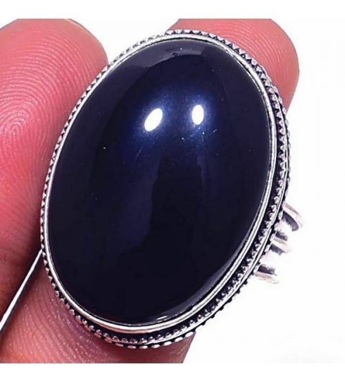 Серебряный перстень с черным ониксом 22р