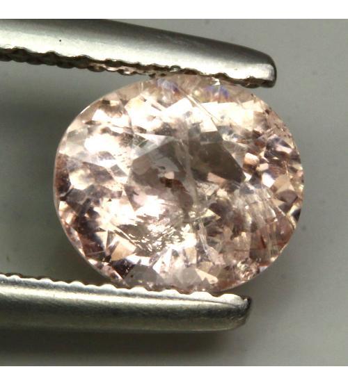 1.07ct Натуральный морганит 7*6мм (овал)