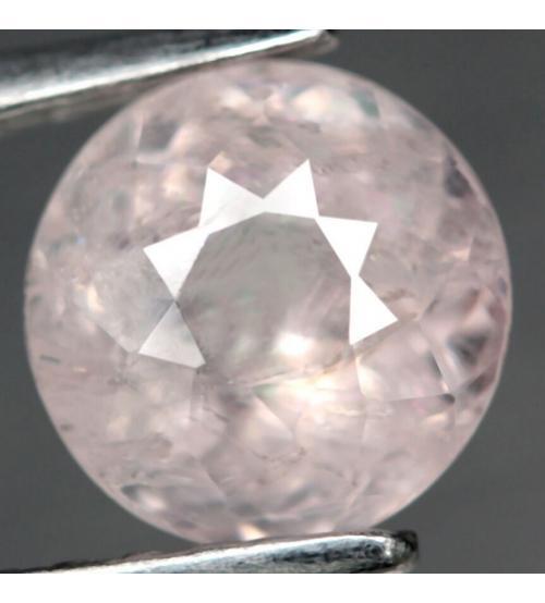 1.63ct Натуральный морганит 7.3мм (круг)