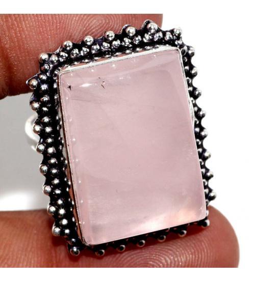 кольцо с розовым кварцем цена