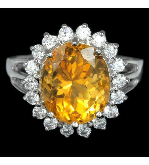 кольцо с цитрином цена