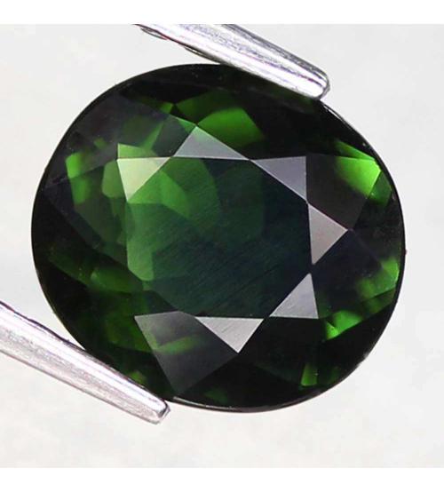 1.85CT Натуральный турмалин зеленый (верделит) 8.2*7.4мм (овал)