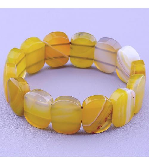 браслет желтый агат