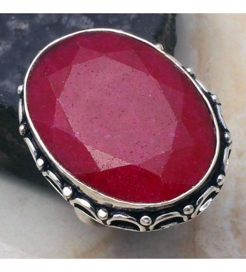 кольцо индийский рубин