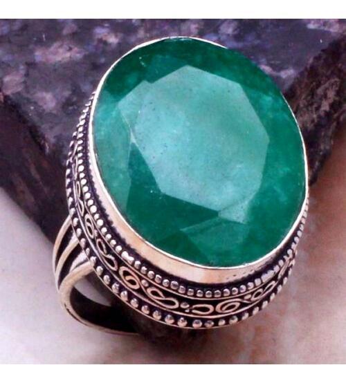 перстень с индийским изумрудом цена