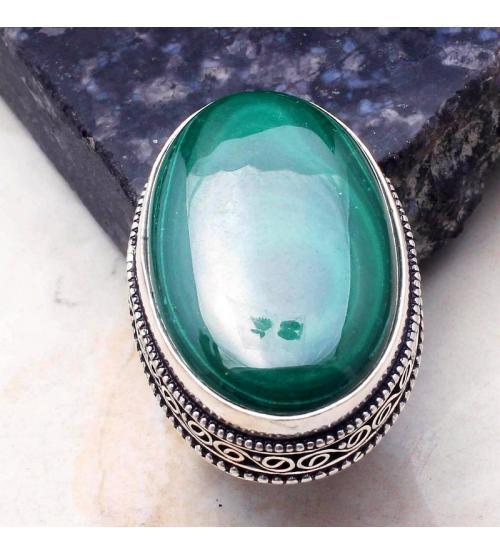 малахит кольцо