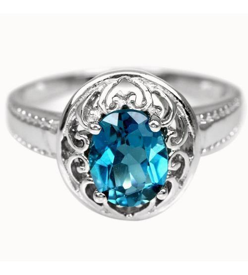 кольцо с лондон топазом