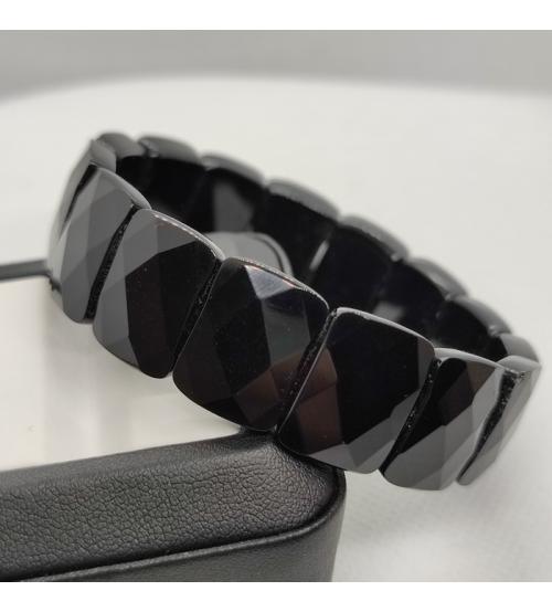 браслет черный агат