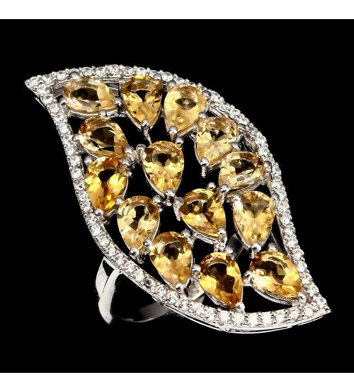кольцо с цитринами цена купить