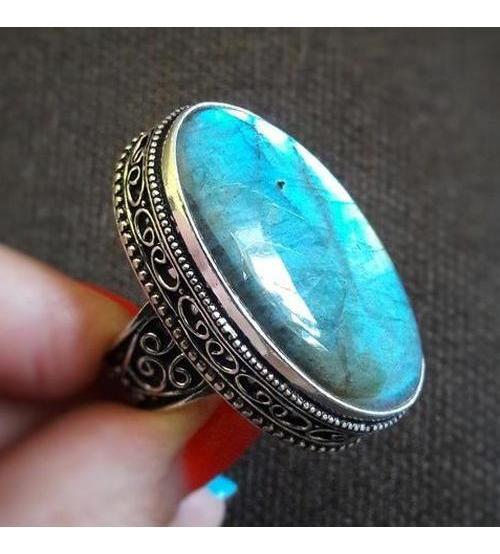 Винтажный серебряный перстень с лабрадоритом 20р