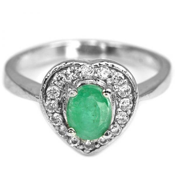 55cdcc4f194b Купить серебряное кольцо с натуральным изумрудом в Украине . Серебро ...